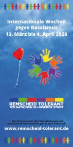 Das Programm der Internationalen Wochen gegen Rassismus 2020 in Remscheid zum Herunterladen.