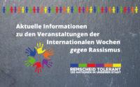 Aktuelle Informationen zu den veranstaltungen der Internationalen Wochen gegen Rassismus 2020 in Remscheid.