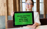 Typisches Vorurteil: Frauen und Technik.